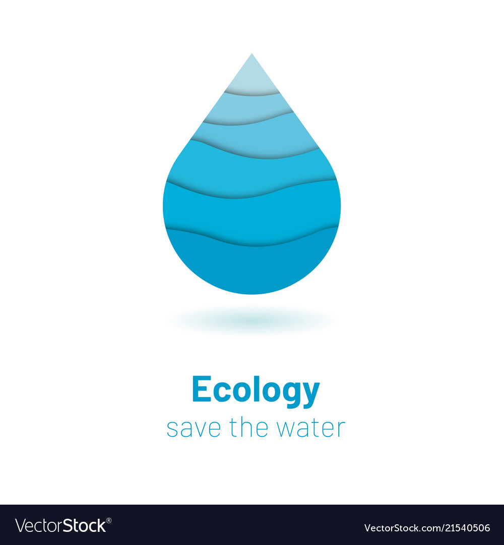 Save the water - ecology concept with paper cut