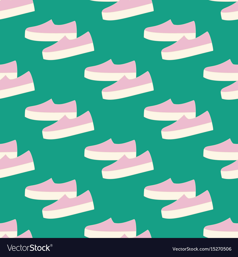 Slipon shoes pattern vector