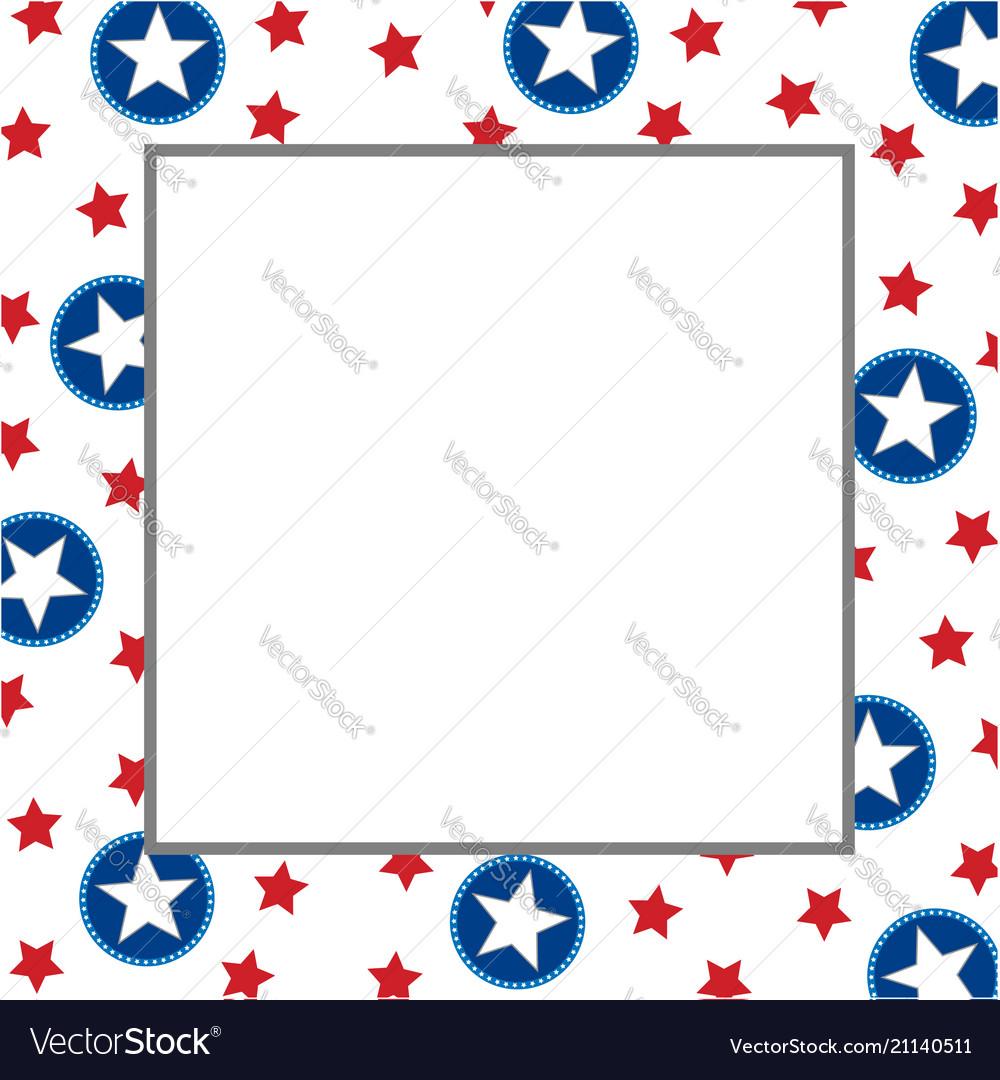 American abstract star flag festive frame