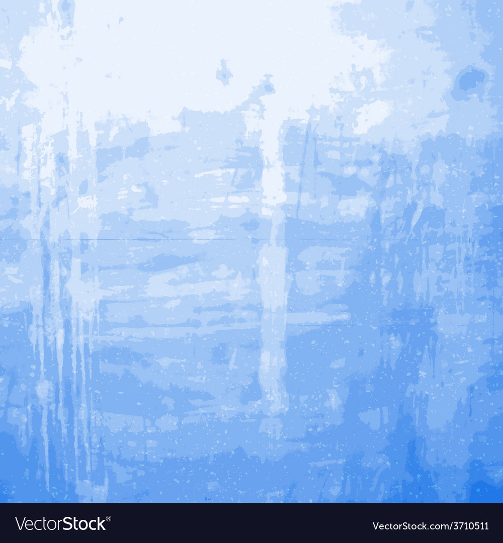 Blue Grainy Messy Wall vector image