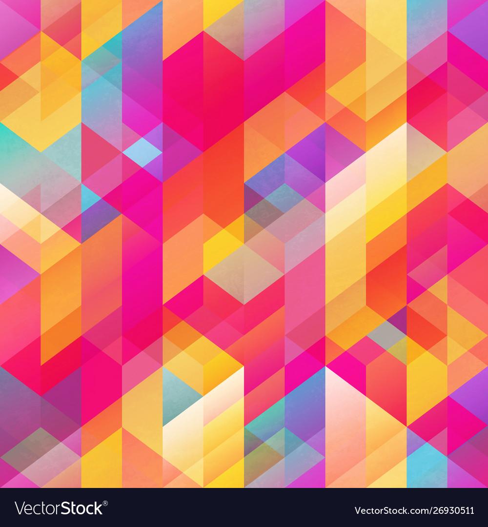Bright geometric pattern