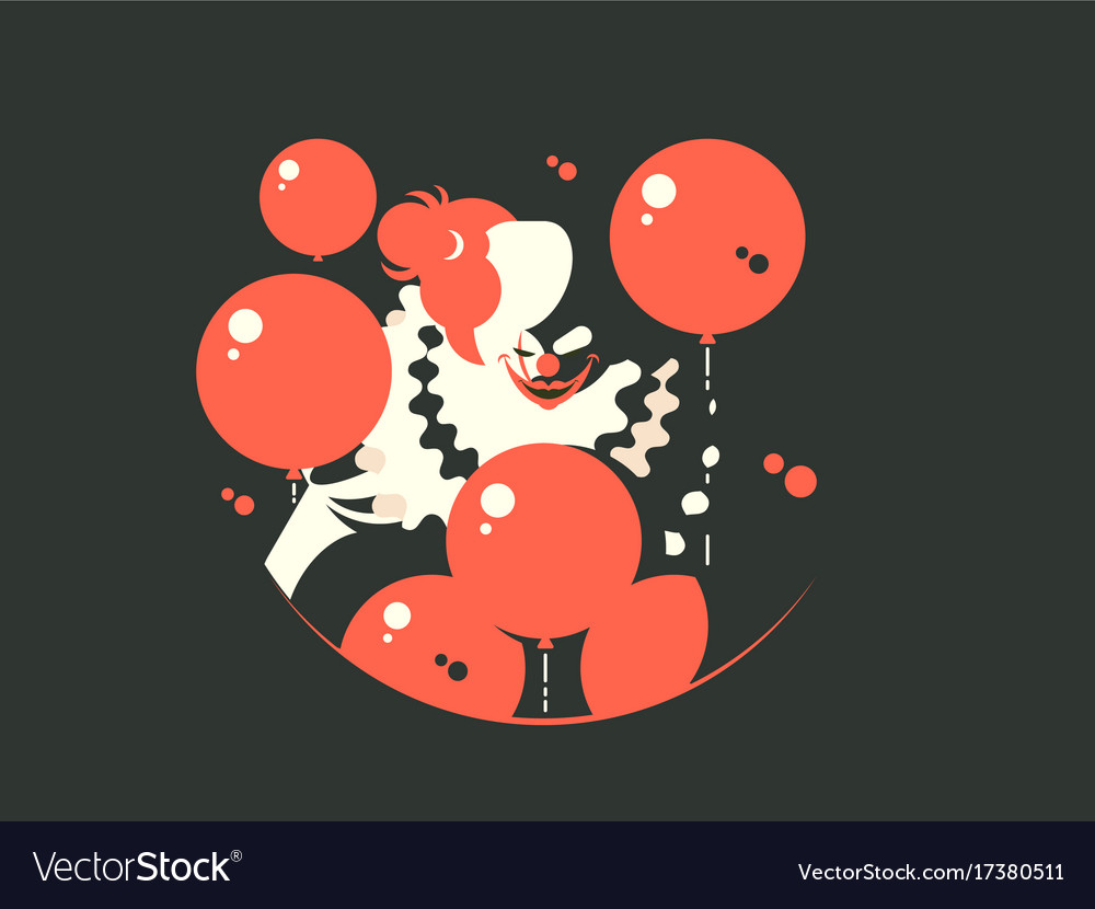 Evil clown character vector