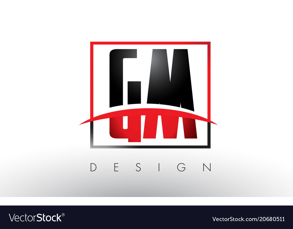 gm g m logo letters with red and black colors and vector image rh vectorstock com gm financial logo vector genuine gm parts logo vector
