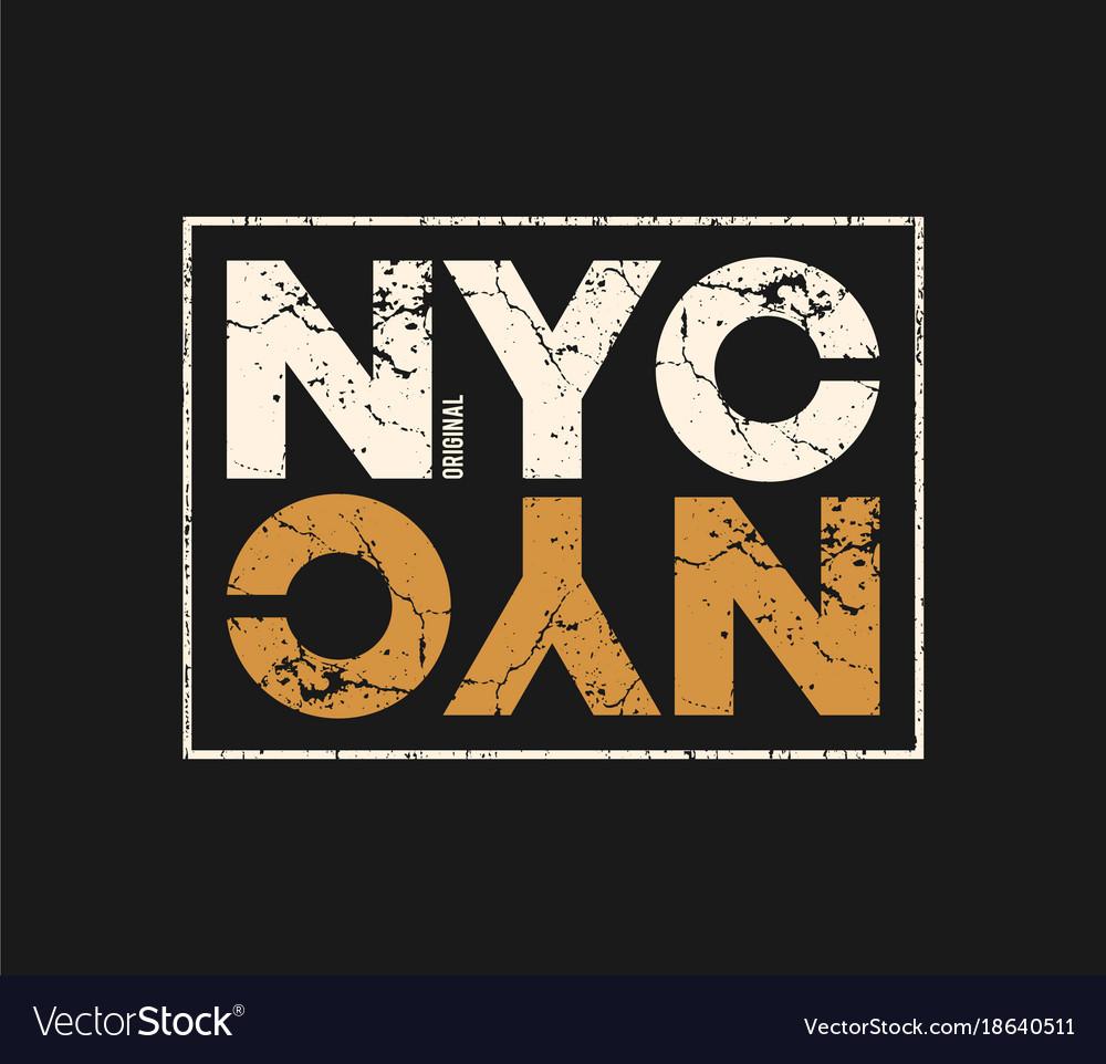 Nyc original t-shirt and apparel design with
