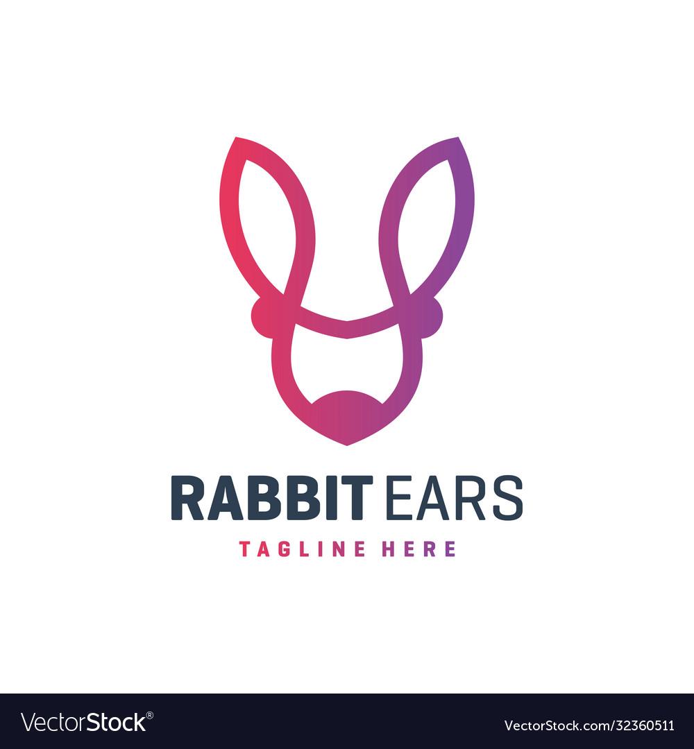 Rabbit ear outline logo