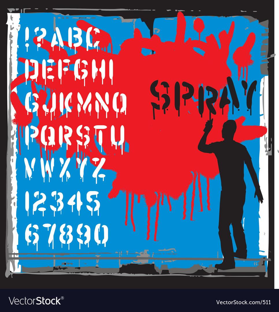 Spray font