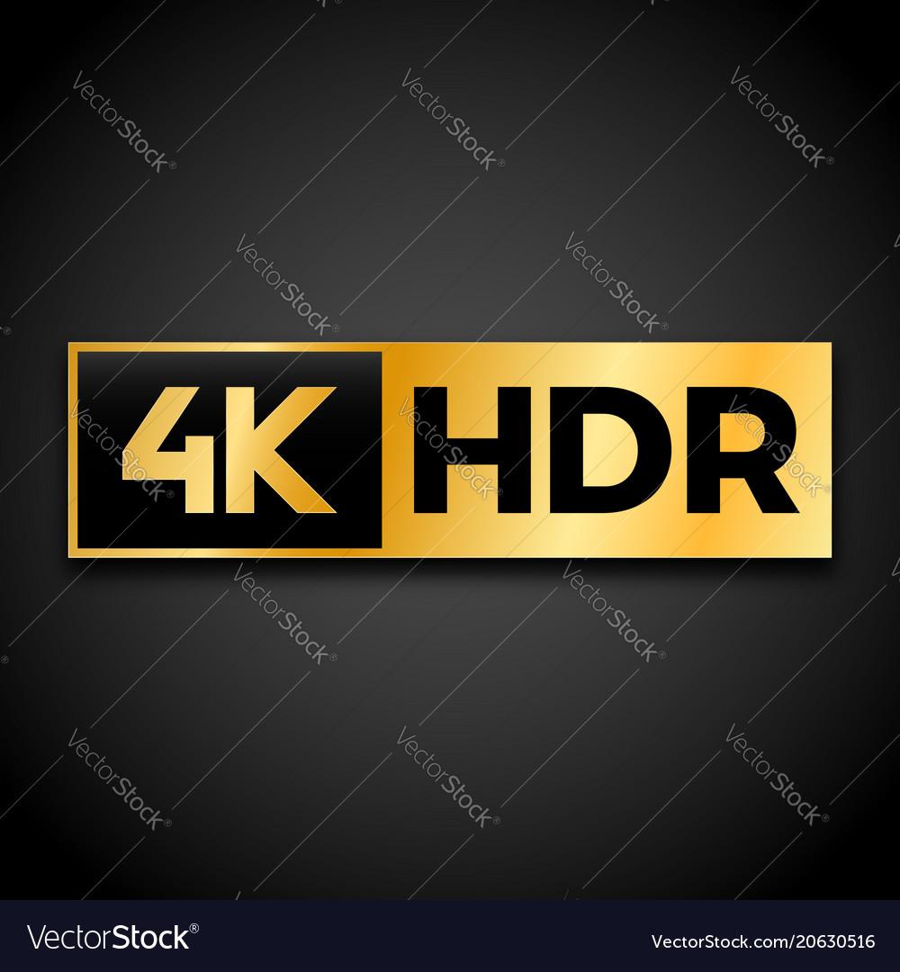 4k ultra hd symbol Royalty Free Vector Image - VectorStock