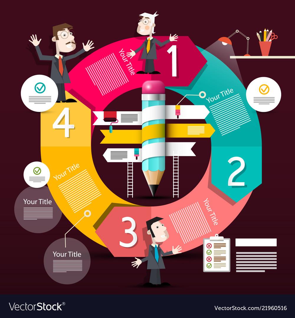 Infographic design infographics circle diagram