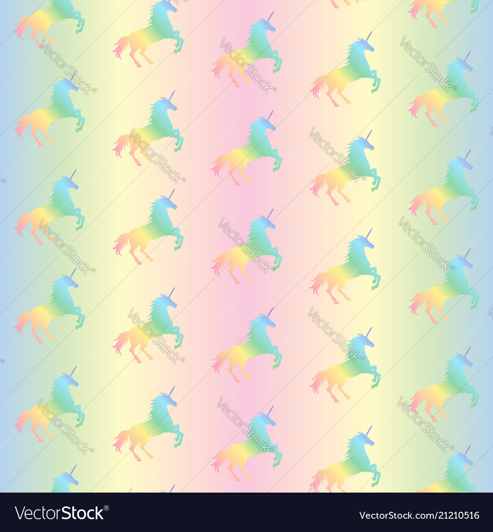 Seamless pattern from rainbow unicorns