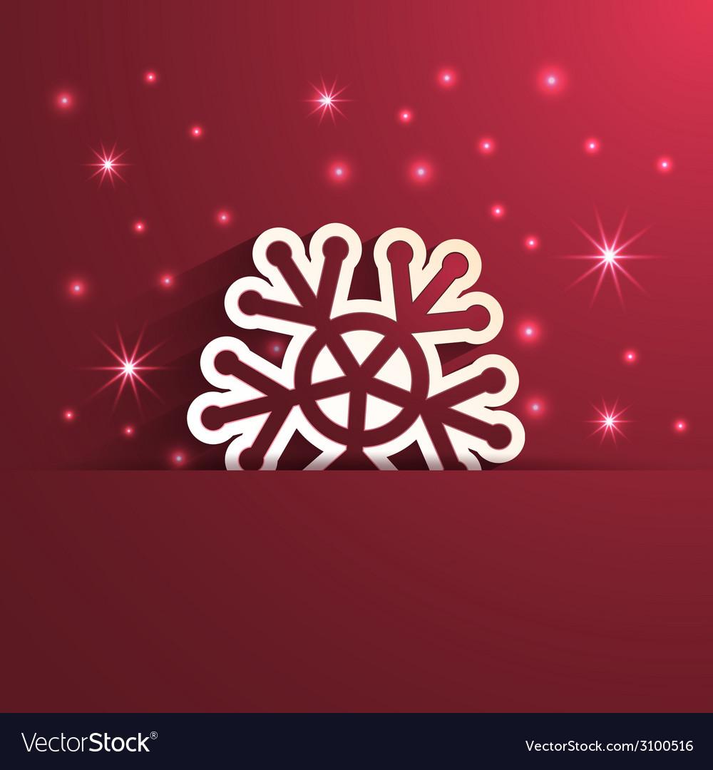 Snowflake shape paper effect