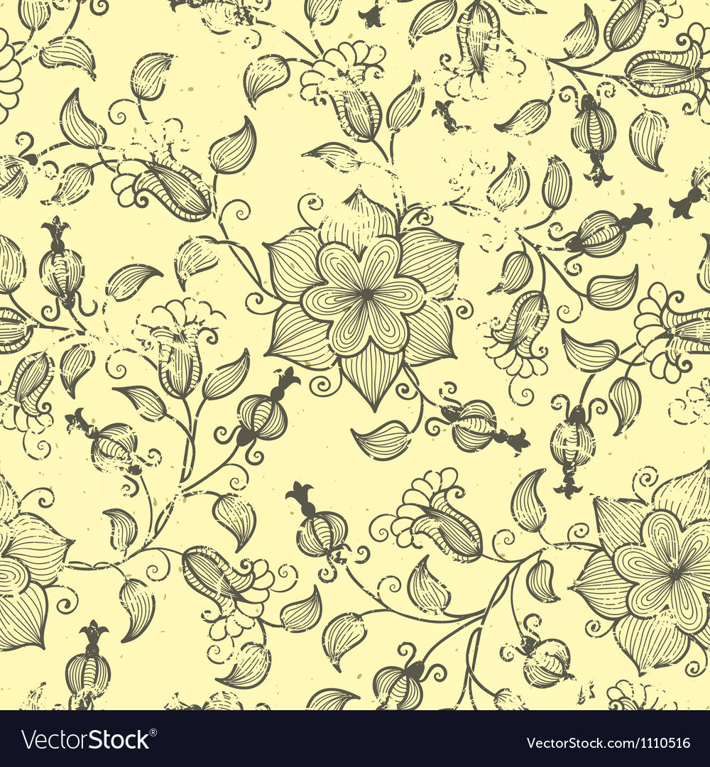 Vintage floral seamless pattern element