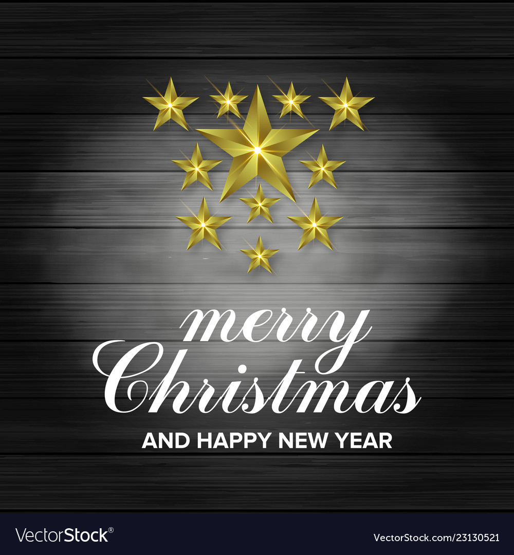 3d star merry christmas and happy new year