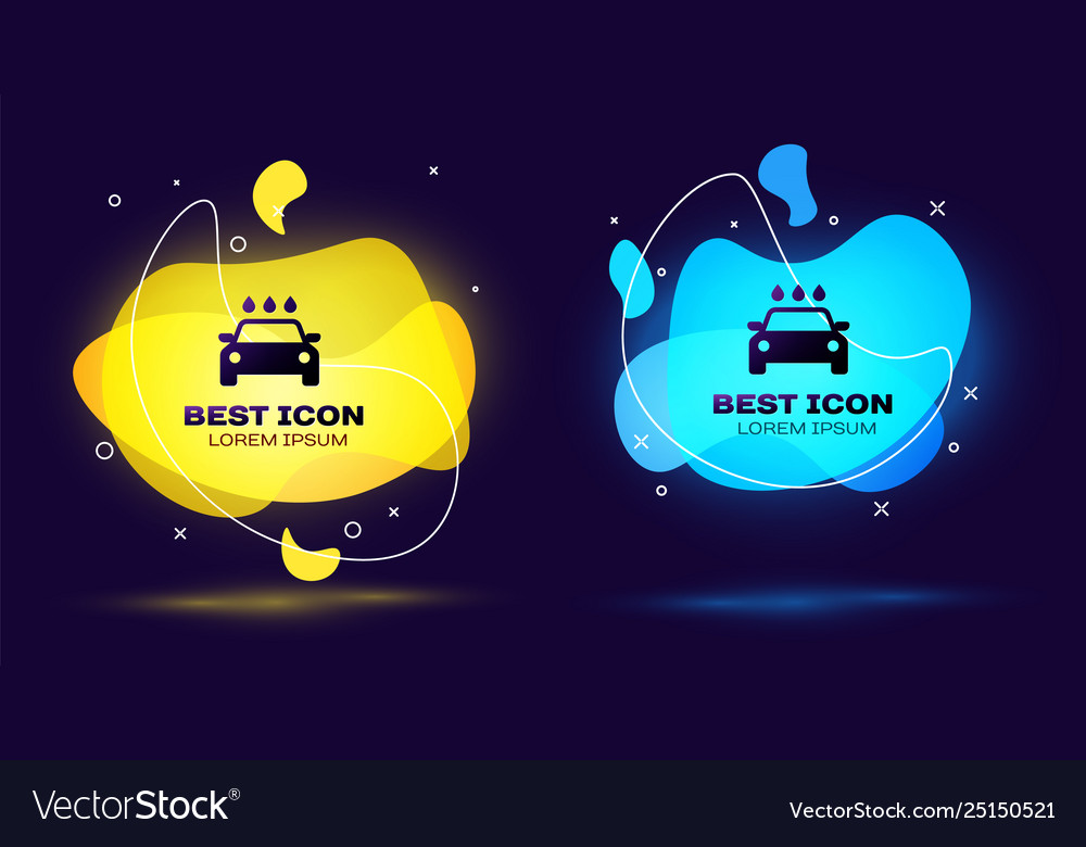 Black Car Wash Icon Isolated On Blue Background Vector Image