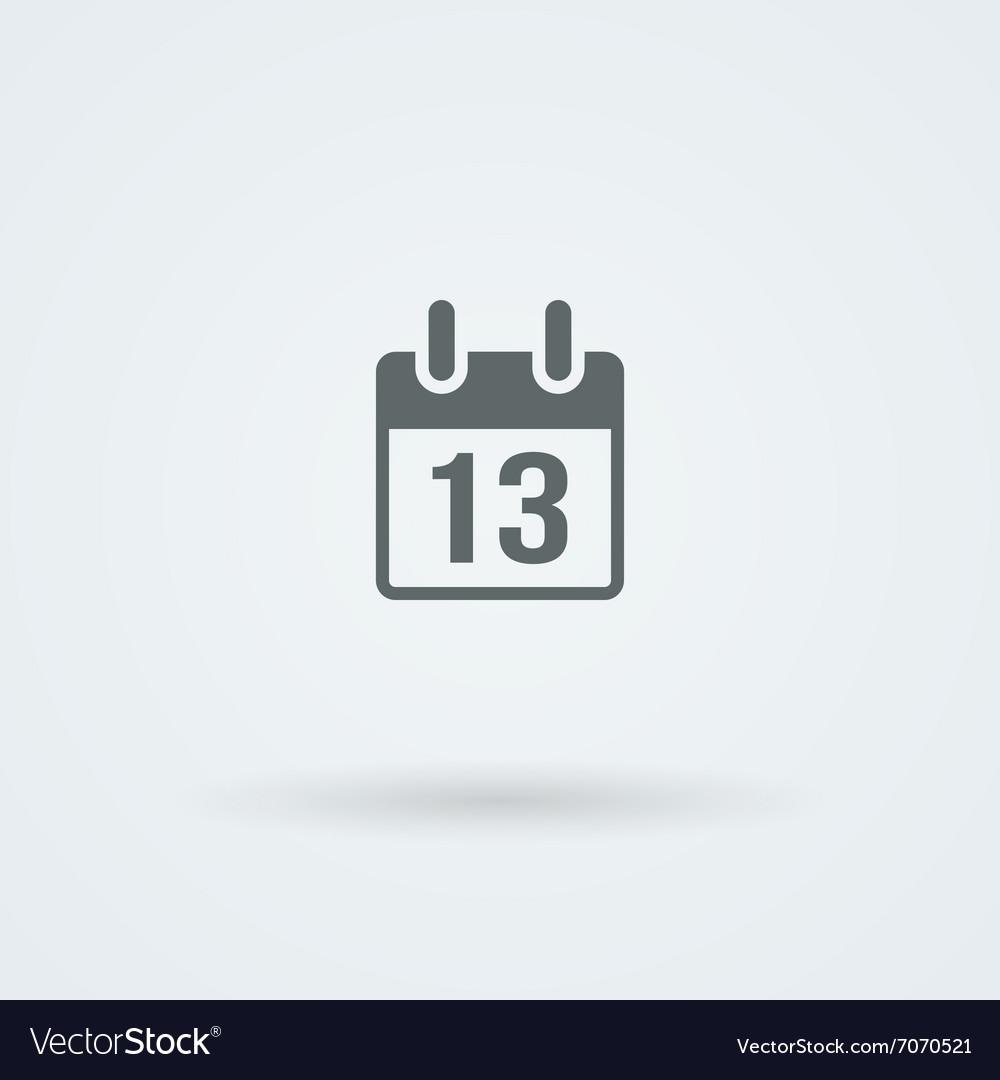 Calendar icon Simple flat