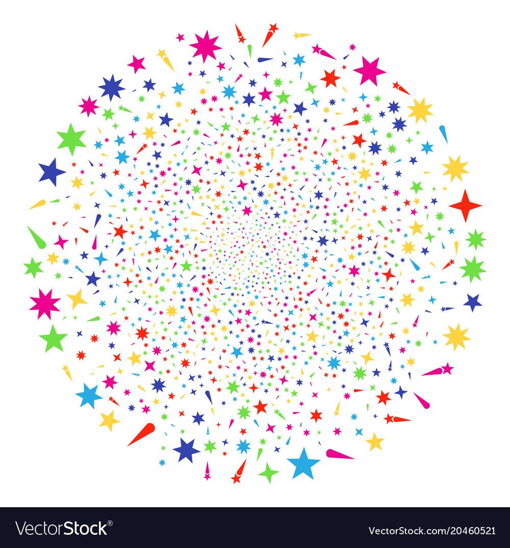 Confetti stars decoration globula