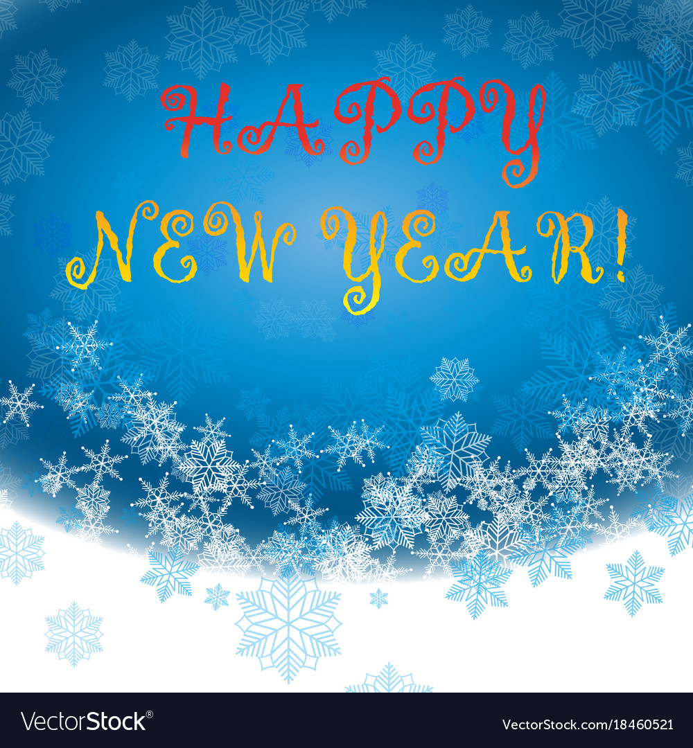 Happy new year background snowflake winter design