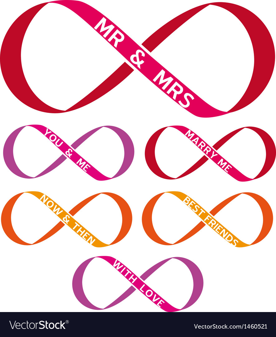 Infinity sign set vector image