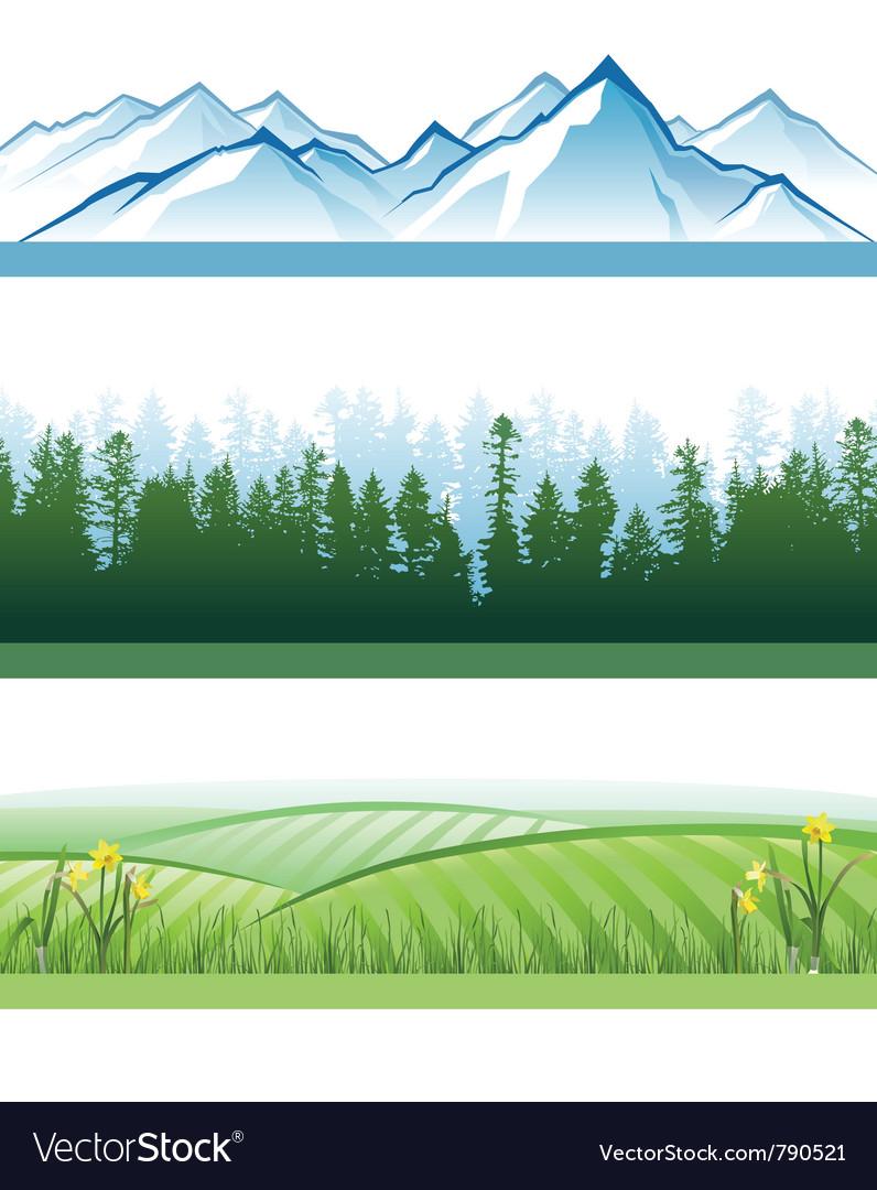 Landscape banners vector image