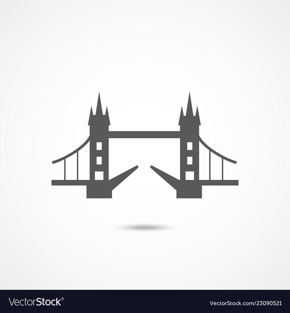 London tower bridge icon