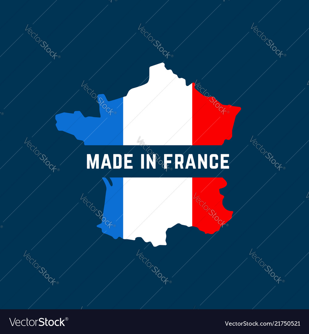 Made in france map colorful logo