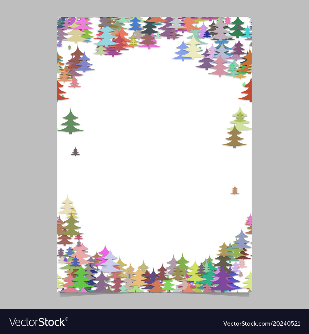 Modern colorful christmas design stationery vector image