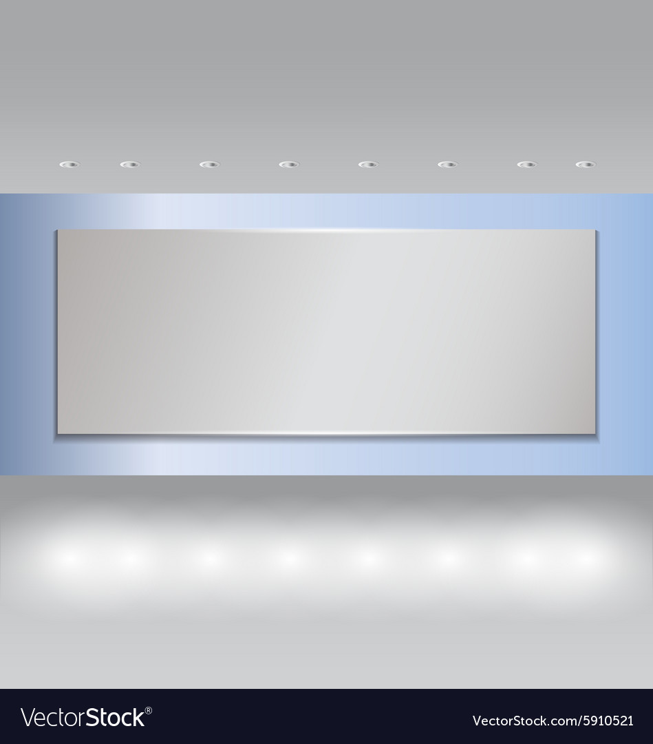 Projector on Blue wall and spot light 2