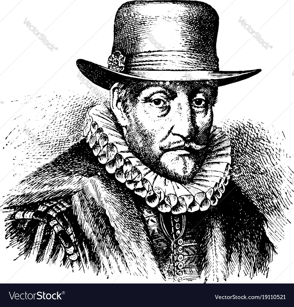 William the silent vintage vector image