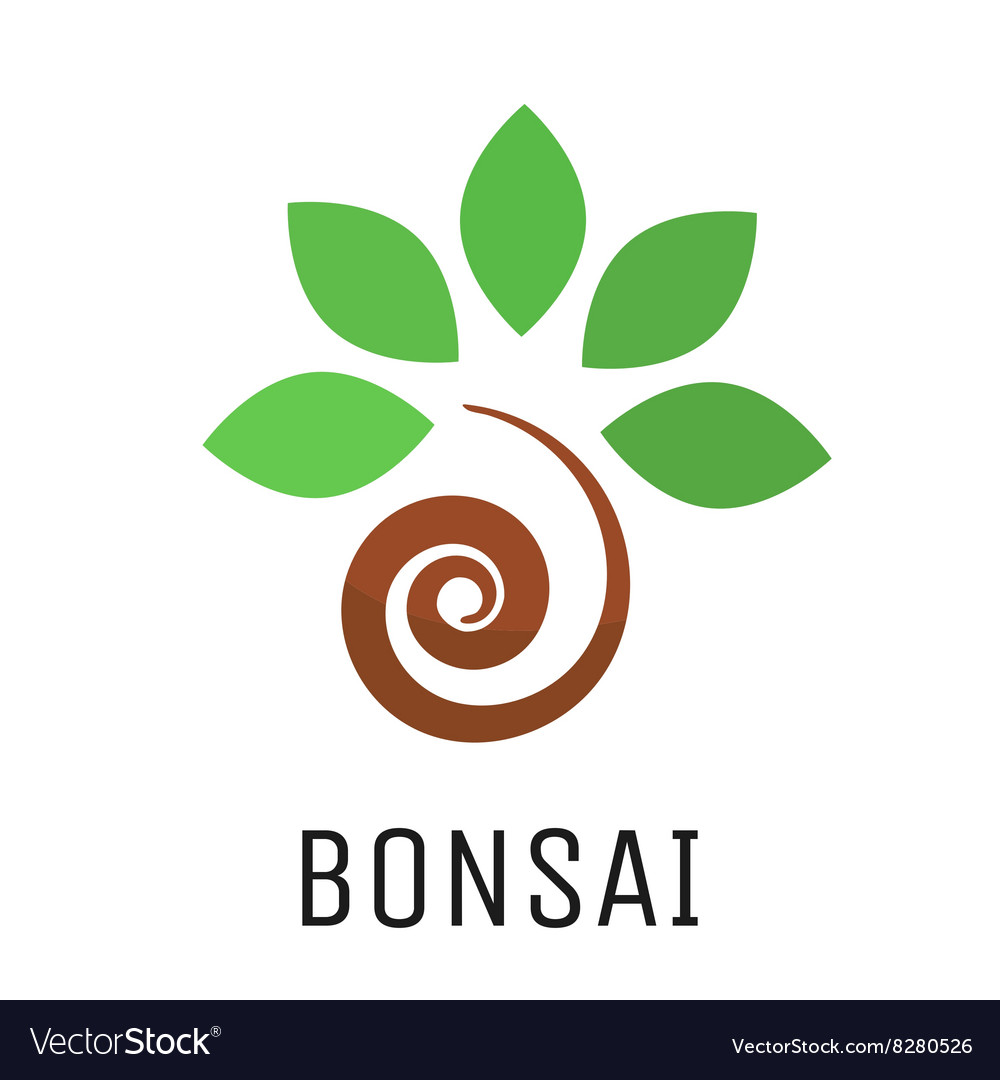 Bonsai Tree Logo Icon Royalty Free Vector Image