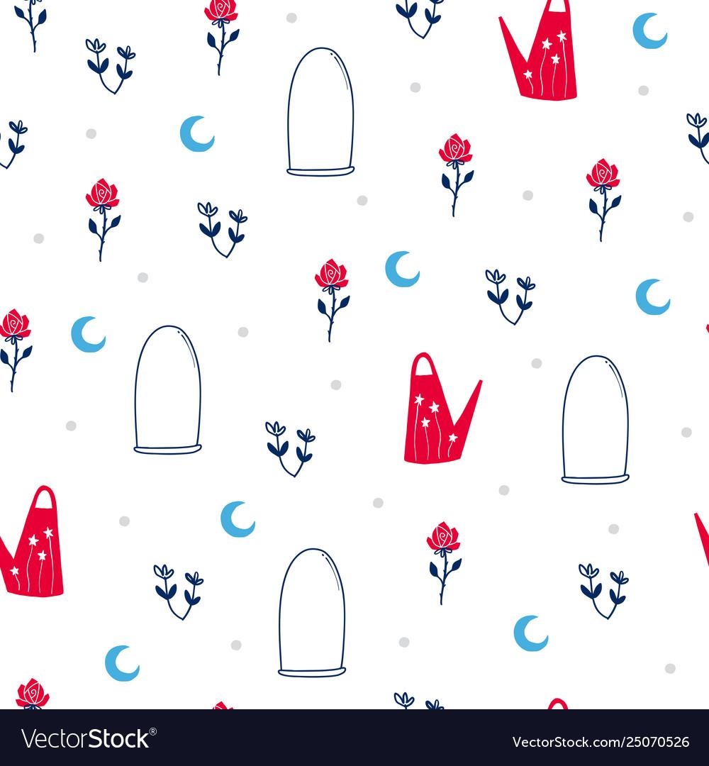 Fairytale cute seamless pattern