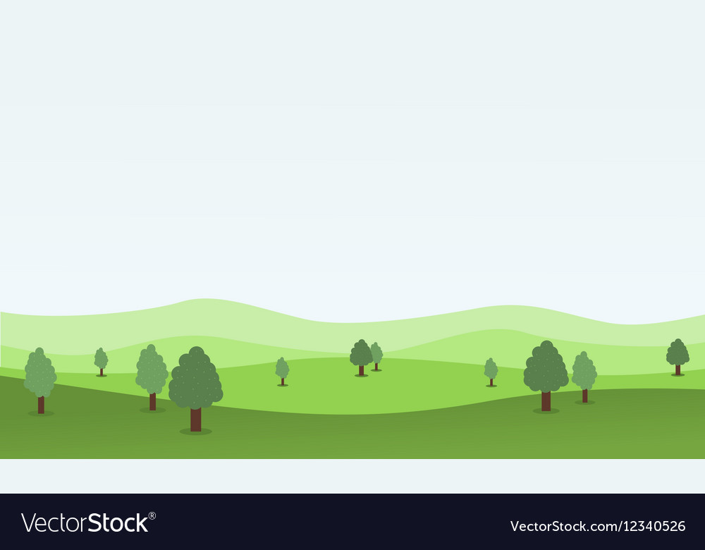 Flat design nature landscape with hill