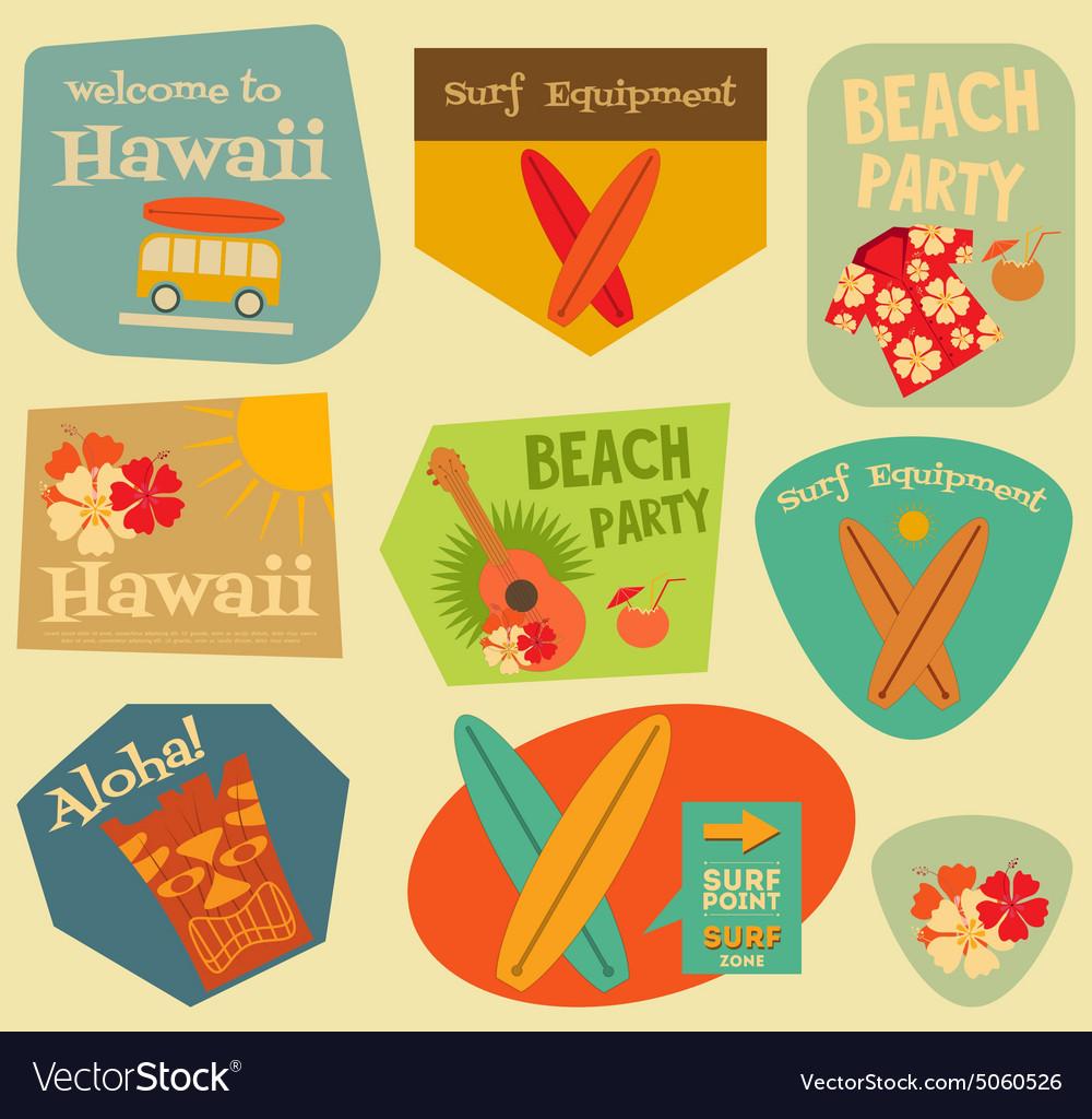 Hawaii surf stickers