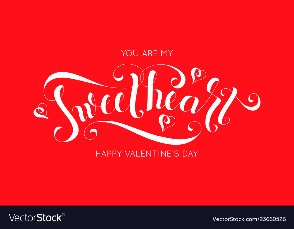 Lettering design for valentines day