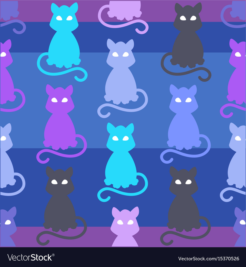Light pets seamless pattern vector image