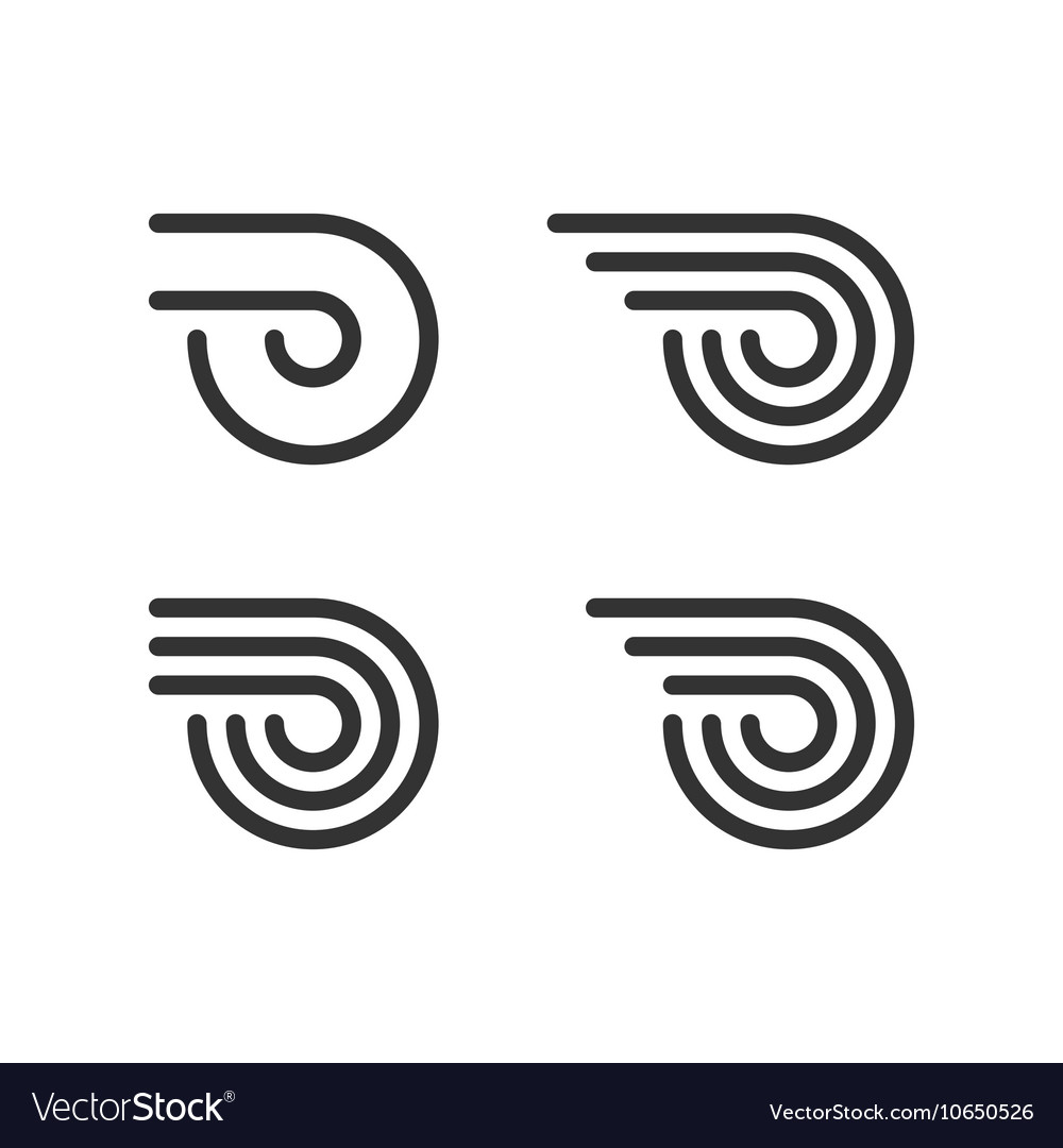 Logo Template Set Wheel With Fire Or Wings Line