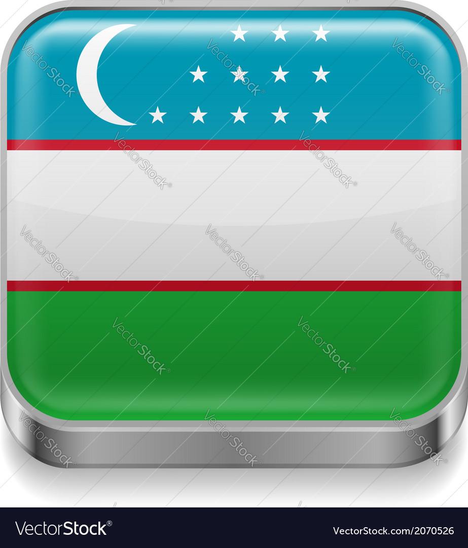 Metal icon of Uzbekistan