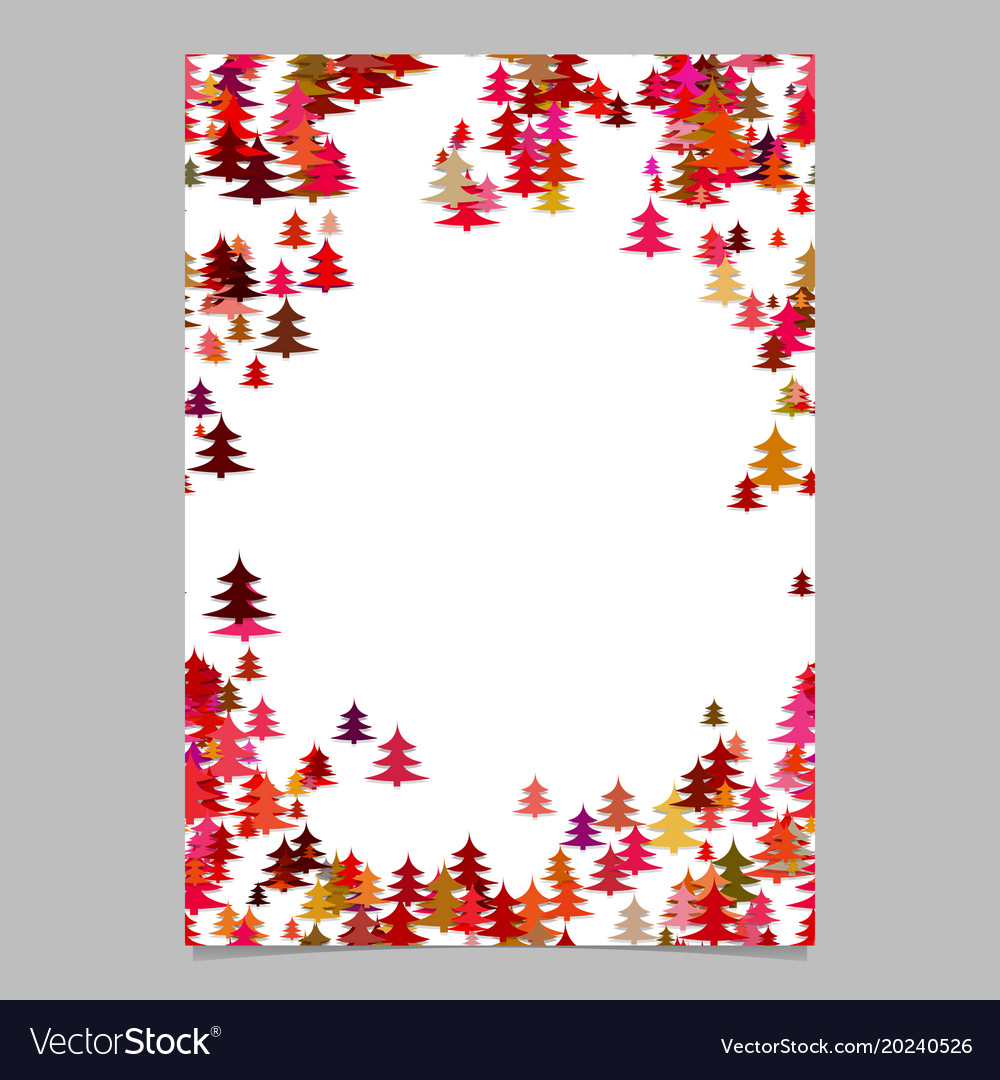 Modern holiday pine tree presentation template