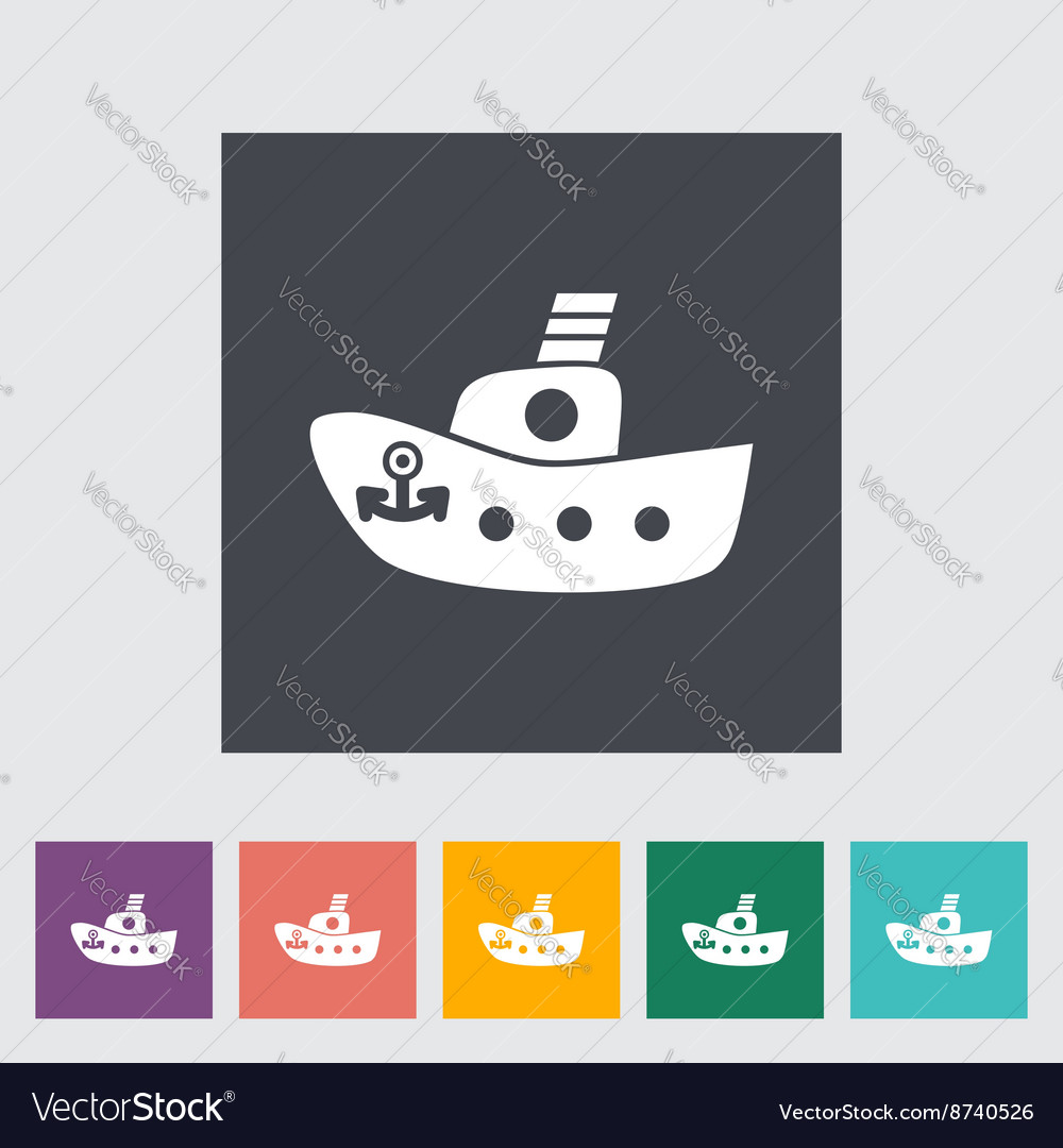 Ship toy flat icon