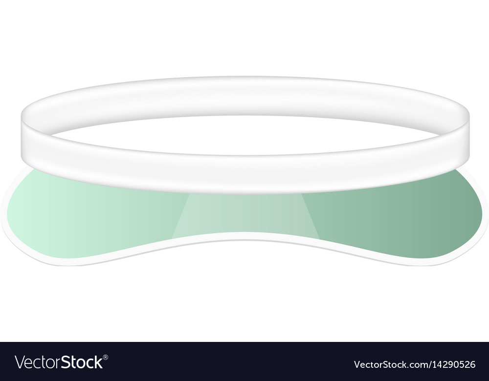Sun visor hat in white and green design vector image