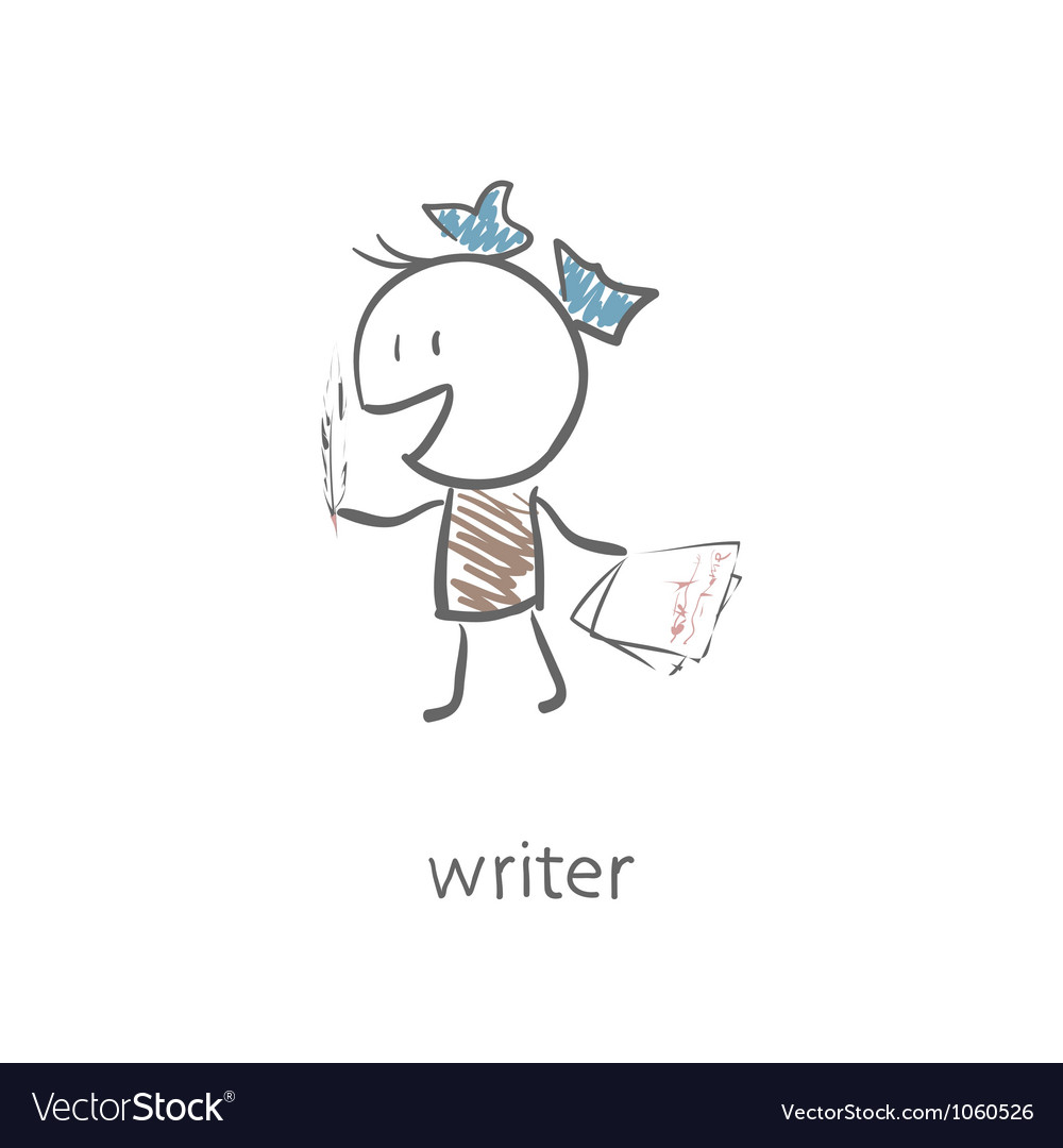 Woman writer vector image