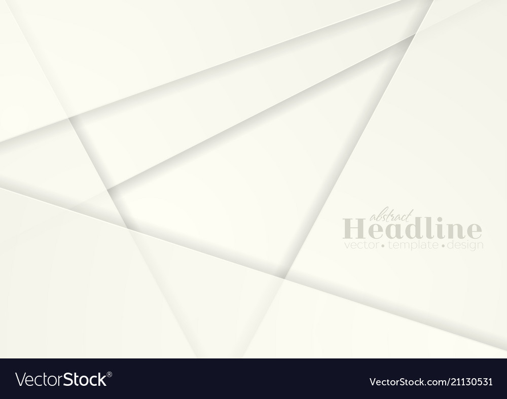 Abstract white paper material geometric background