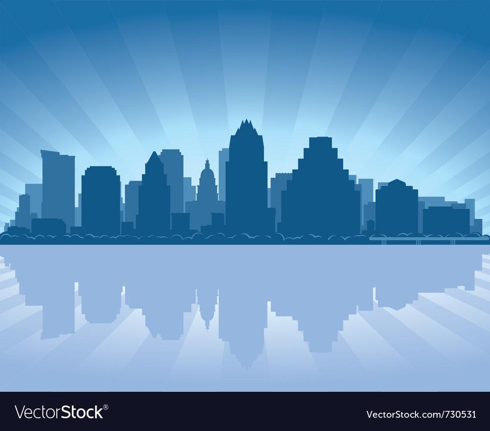 Austin texas skyline vector image