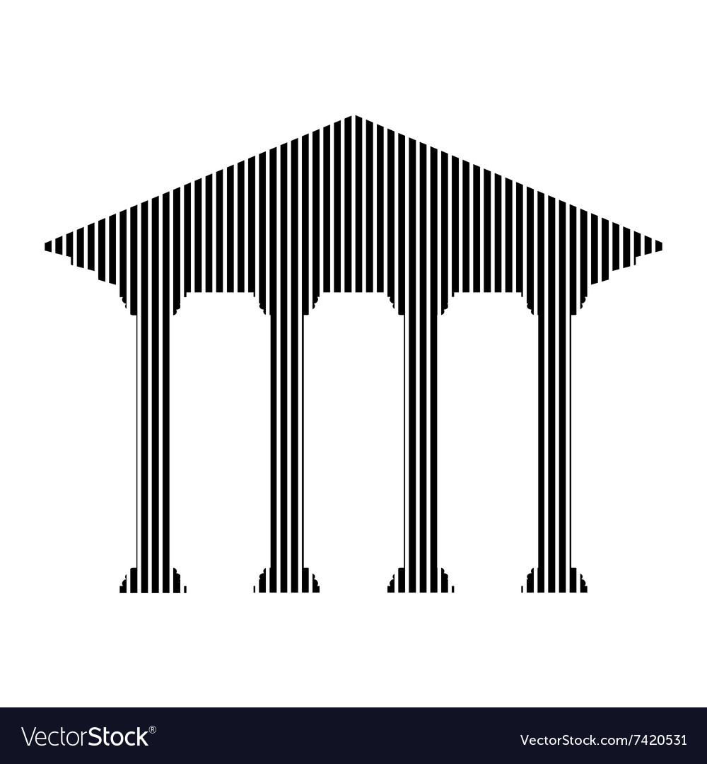 Bank sign on white vector image