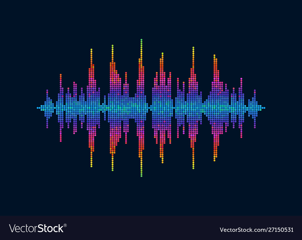 Colorful pixelated sound waves abstract