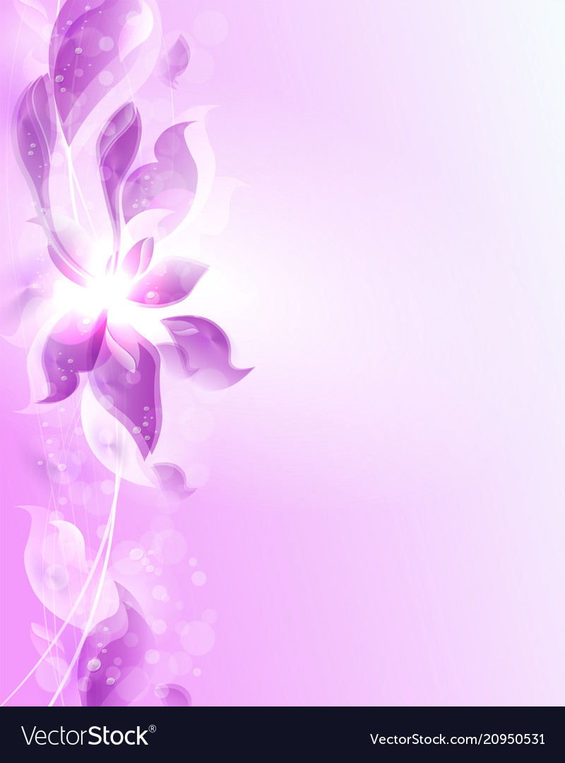 Purple Abstract Design Of Flower Petals Royalty Free Vector