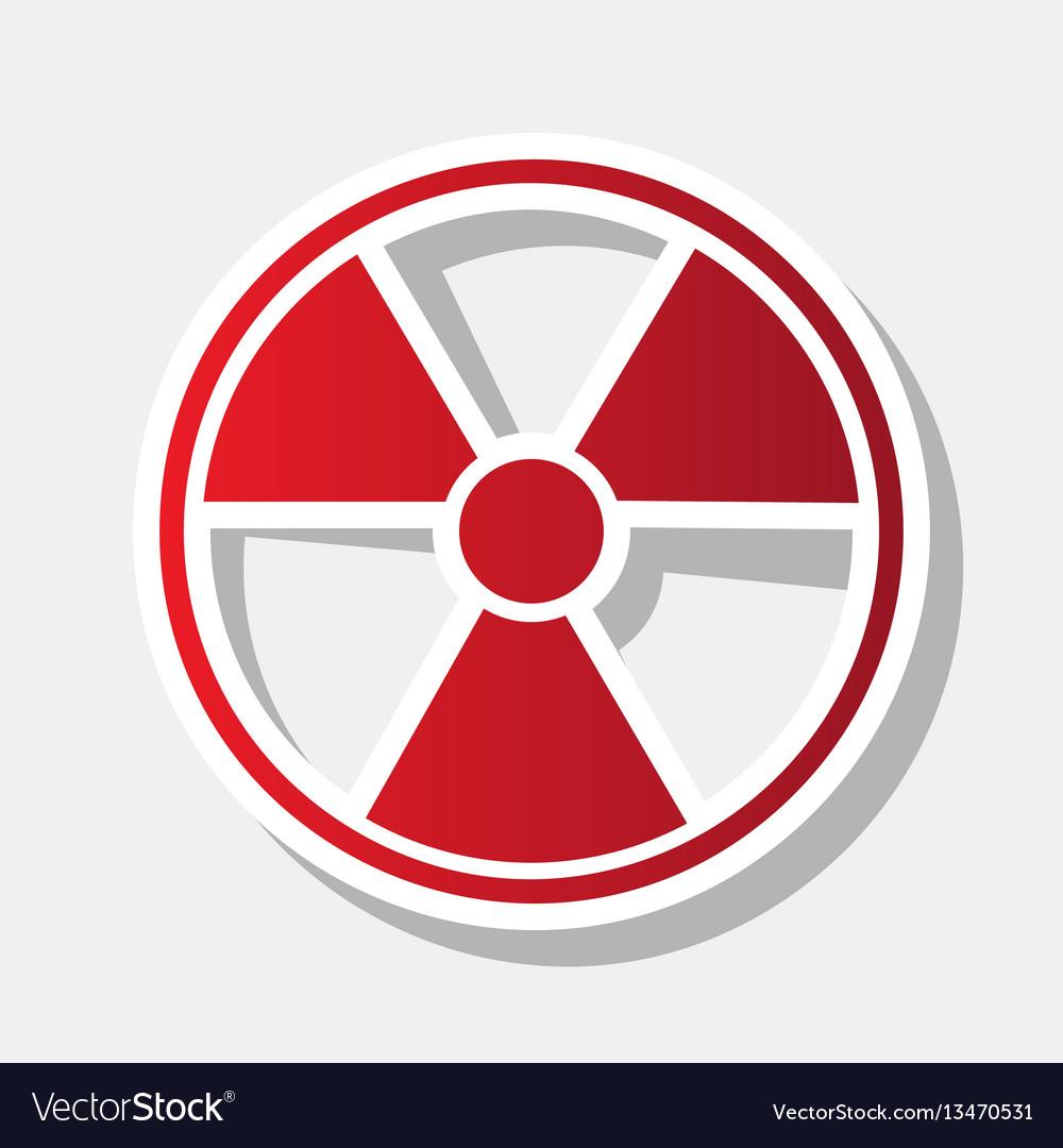 Radiation Round Sign New Year Reddish Royalty Free Vector