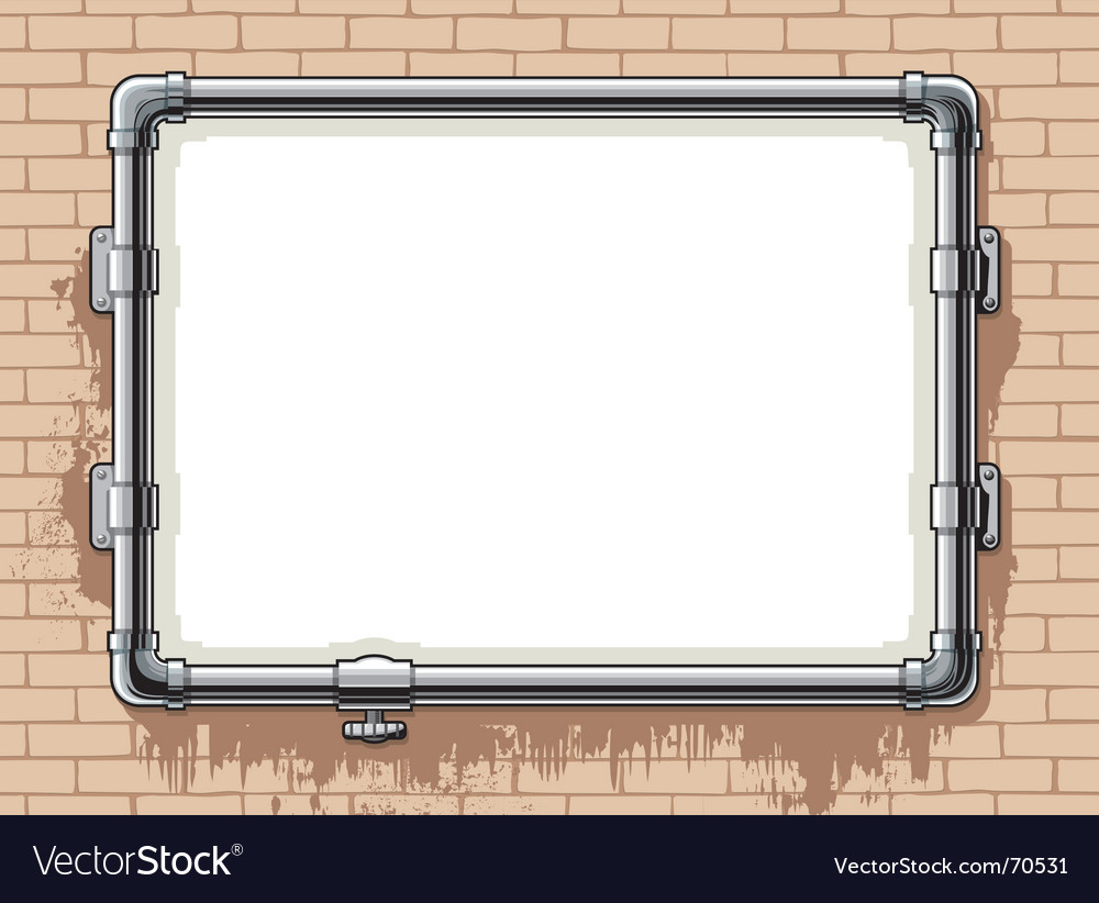 Steel pipe photo frame Royalty Free Vector Image