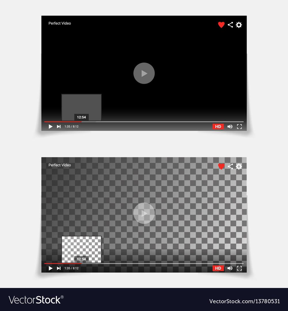 Video player interface template modern