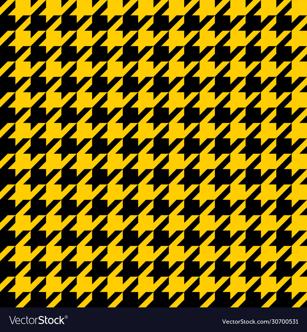 Yellow and black houndstooth seamless pattern