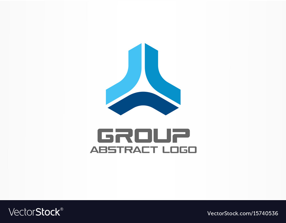 Abstract business company logo corporate identity vector image