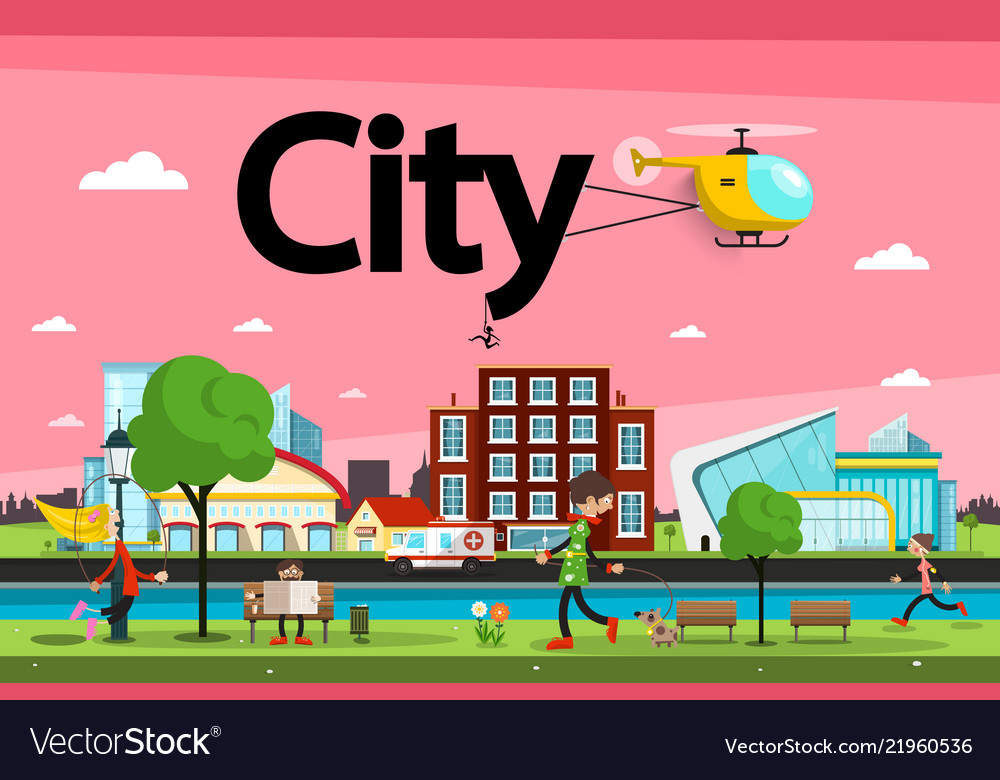 Abstract city - town urban landscape